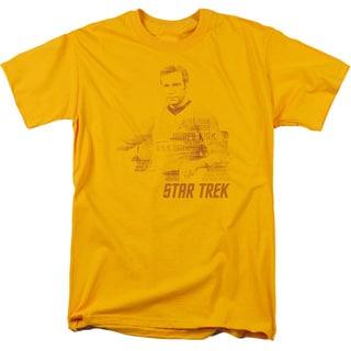 Star Trek/Kirk Words Short Sleeve Adult T-Shirt 18/1 in Gold