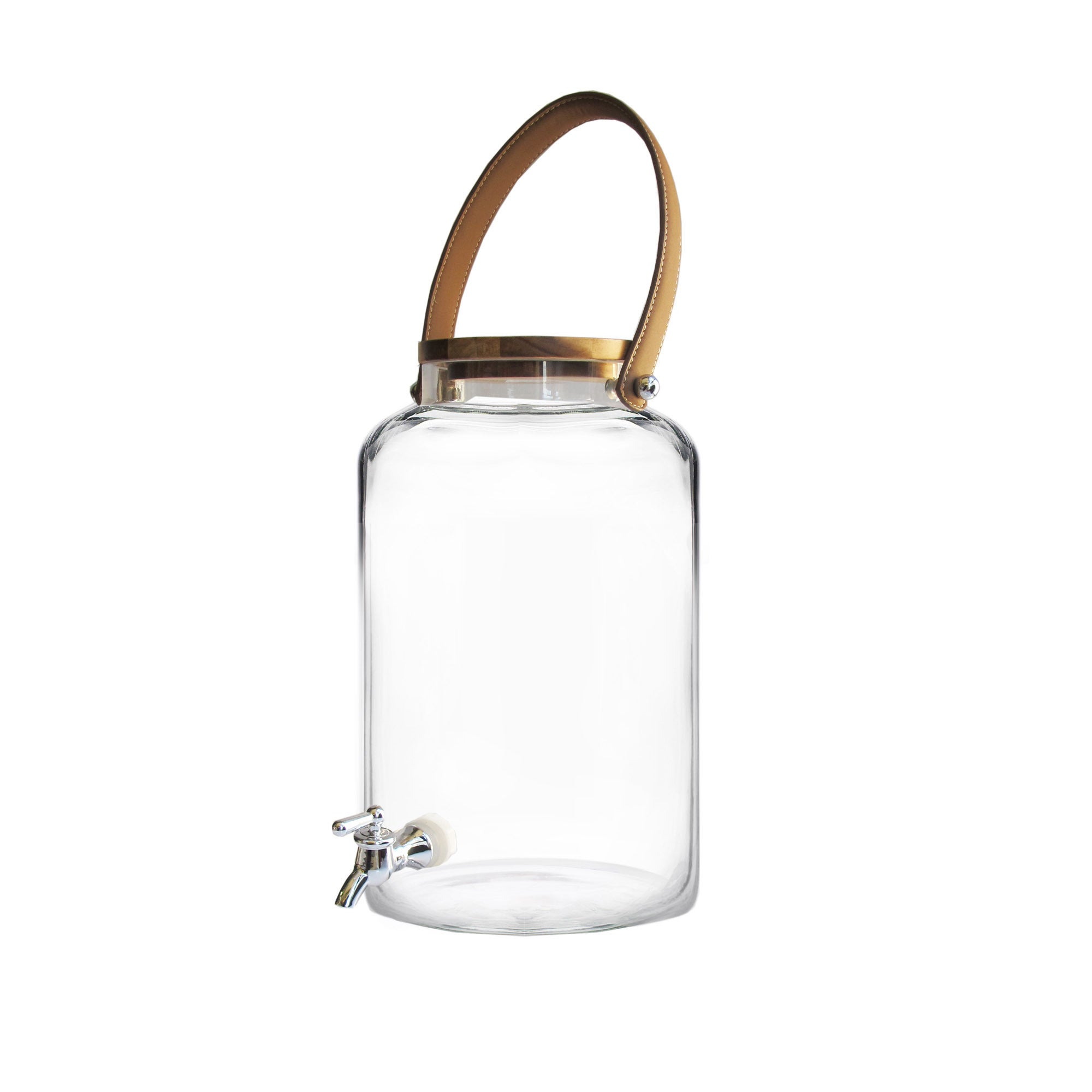STYLE SETTER - SOHO Kent Clear/Black/Brown Glass Beverage...