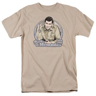 Andy Griffith/Thanks For The Memories Short Sleeve Adult T-Shirt 18/1 in Sand