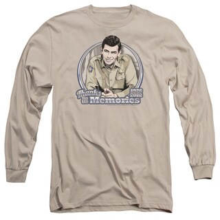 Andy Griffith/Thanks For The Memories Long Sleeve Adult T-Shirt 18/1 in Sand
