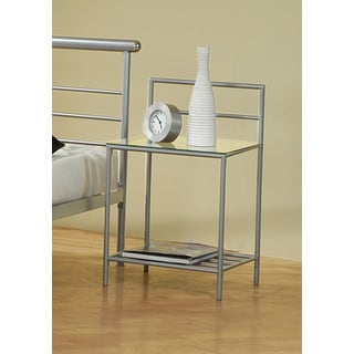 Coaster Company Silver Metal and Glass Nightstand