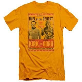 Star Trek/Duel in The Desert Short Sleeve Adult T-Shirt 30/1 in Gold