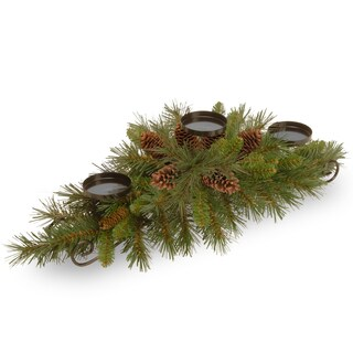 30-inch Pine Cone Centerpiece and Candle Holder