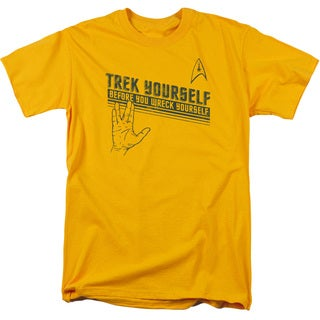 Star Trek/Trek Yourself Short Sleeve Adult T-Shirt 18/1 in Gold
