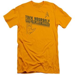 Star Trek/Trek Yourself Short Sleeve Adult T-Shirt 30/1 in Gold