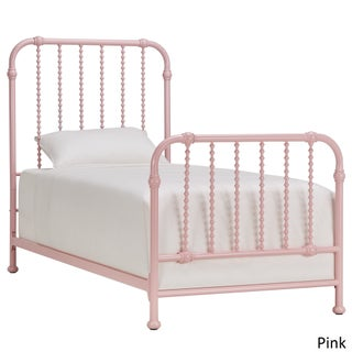 Gulliver Vintage Antique Spiral Twin Iron Metal Bed by IQ KIDS by iNSPIRE Q Bold (Option: Pink)