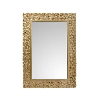 Aurelle Home Rectangular Gold Mirror