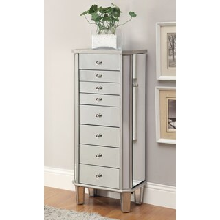 Coaster Company Wood Silver Mirrored Jewelry Cabinet