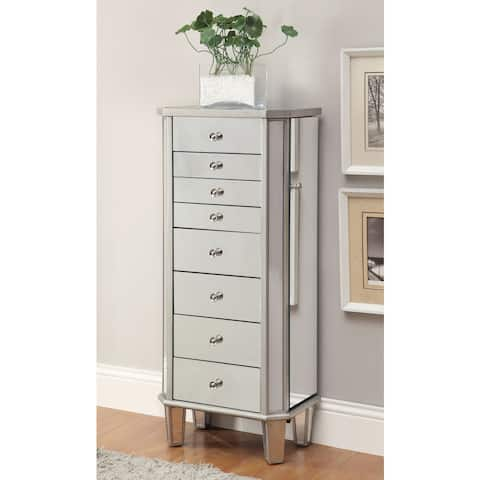 "Coaster Company Wood Silver Mirrored Jewelry Cabinet - 18"" x 13"" x 40.50"""