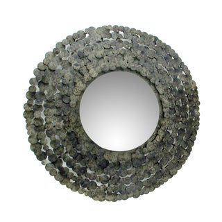 Aurelle Home Antique Round Mirror