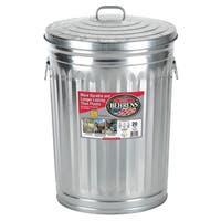 Behrens High Grade Steel 1211 20 Gal Silver Galvanized Steel Trash Can W/Lid