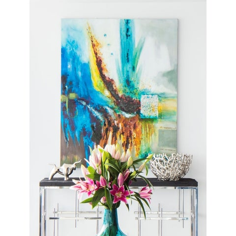 Aurelle Home Modern Splash Abstract Canvas Wall Decor
