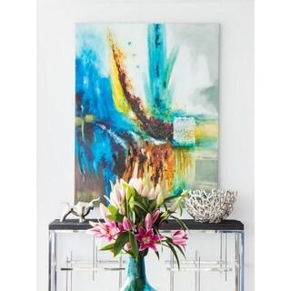 Aurelle Home Modern Splash Abstract Canvas Wall Decor