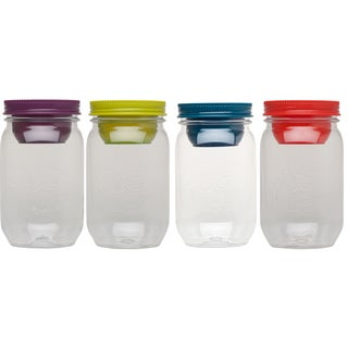 Aladdin 10-01828-001 16 Oz. Classic Mason Salad Jar Assorted Colors