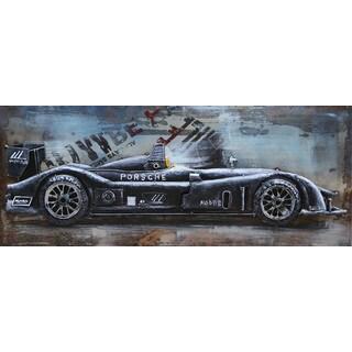 Aurelle Home Industrial Race Car Wall Decor
