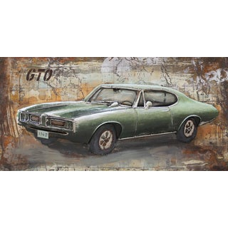 Aurelle Home Classic Muscle Car Wall Art