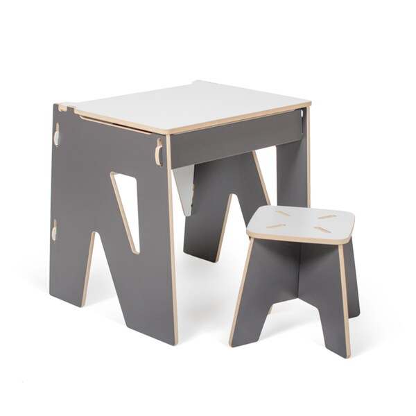 Modern Kids Desk and Stool with Storage - Free Shipping Today - Overstock.com - 19312103  sc 1 st  Overstock.com & Modern Kids Desk and Stool with Storage - Free Shipping Today ... islam-shia.org