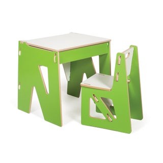 Modern Kids Desk and Chair (Option: Green)