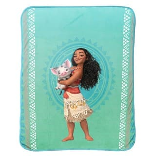 Disney Moana 'The Wave' Plush Throw