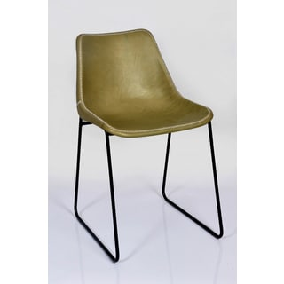 Horizon Hudson Olive Leather Dining Chair