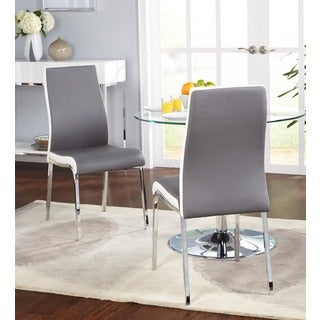 Simple Living Nora Dining Chairs (Set Of 2) (Option: Grey)