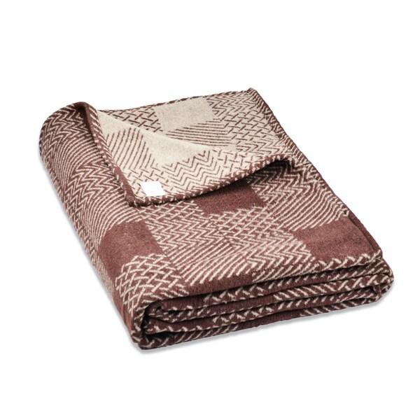 Multicheck Cotton Blend Plaid Blanket