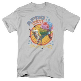 Madagascar/Afro Circus Short Sleeve Adult T-Shirt 18/1 in Silver
