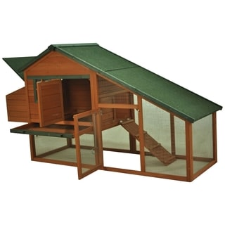 Pawhut Backyard Slant Roof Wooden Hen House Chicken Coop