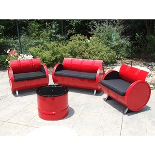 Red Loft Indoor/Outdoor Seating Group Red