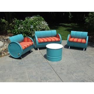 Santa Fe Indoor/Outdoor Garden Patio 4-Piece Conversation Set