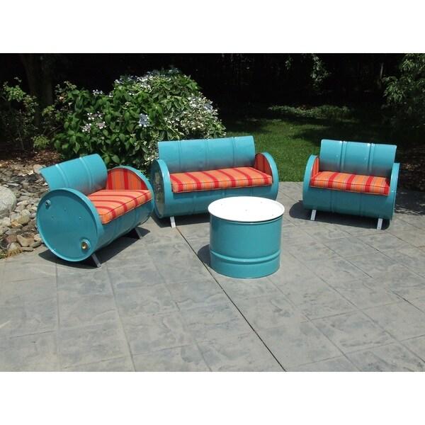 Beautiful Santa Fe Indoor/Outdoor Garden Patio 4 Piece Conversation Set