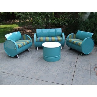 Laguna Indoor/Outdoor Garden Patio 4-Piece Conversation Set