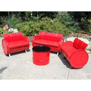 Very Red 4-Piece Conversation Set