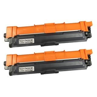 2PK Replacement Black Toner Ink Cartridge for Brother Inkjet Printers TN221 and TN225