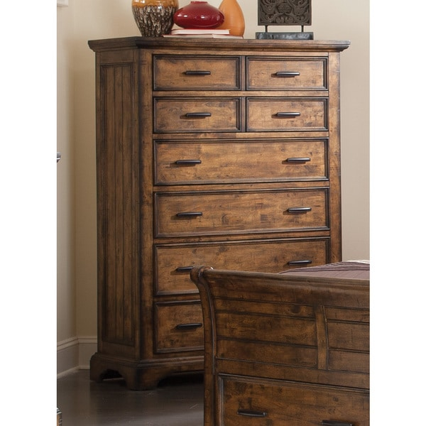 Coaster Company Distressed Brown 6 Drawer Tall Chest