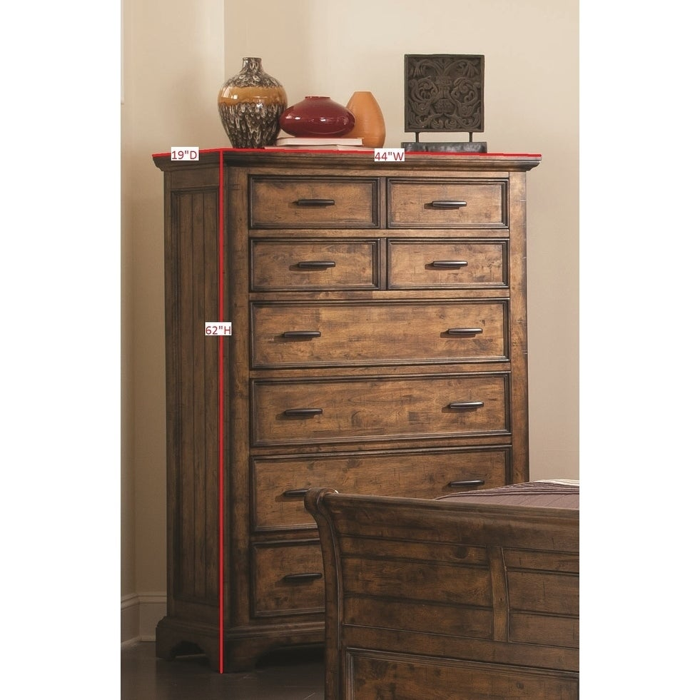 Coaster Company Distressed Brown 6-drawer Tall Chest