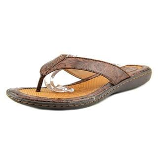 B.O.C. Women's 'Zita' Brown Faux Leather Sandals