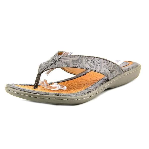 Shop B O C Women S Zita Grey Faux Leather Sandals Free