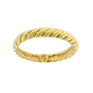 14k Yellow Gold Fancy Spiral Twist Super Light Italian Ring