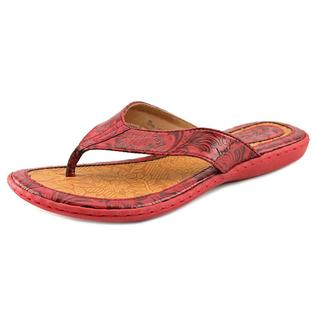 B.O.C. Women's Zita Red Faux Leather Sandals