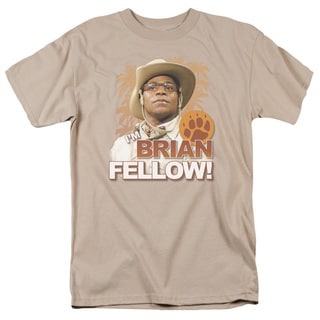 SNL/Brian Fellow Short Sleeve Adult T-Shirt 18/1 in Sand