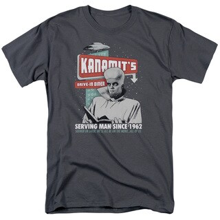 Twilight Zone/Kanamits Diner Short Sleeve Adult T-Shirt 18/1 in Charcoal