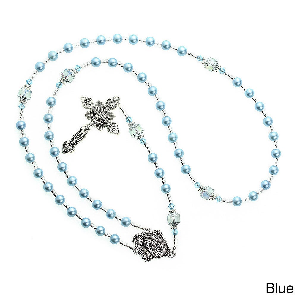 Crystal Dream Luxury Swarovski Element Pearl Rosary Infan...