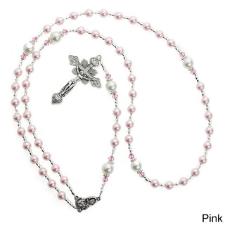 Crystal Dream Luxury Swarovski Element Pearl Rosary Infant Necklace (3 options available)