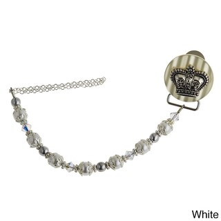 Baby Crown Pacifier Clip (3 options available)