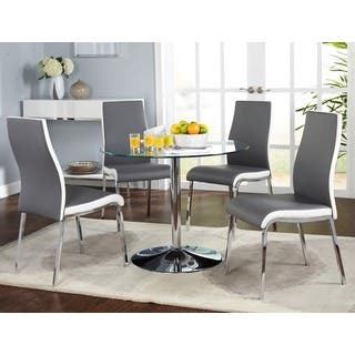 Simple Living Nora Modern Dining Room Set. Glass Dining Room Sets For Less   Overstock com