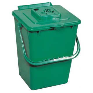 Exaco Trading Co ECO2000 2.4 Gallon Eco Kitchen Compost Collector With Carbon Filter
