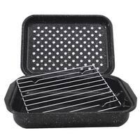 Granite Ware F0513-2 Black Bake, Broil & Grill 3 Piece Set