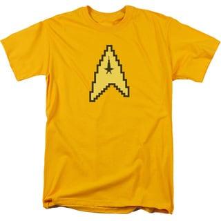 Star Trek/8 Bit Command Short Sleeve Adult T-Shirt 18/1 in Gold