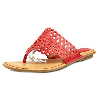 B.O.C. Women's 'Caree' Red Faux-leather Sandals